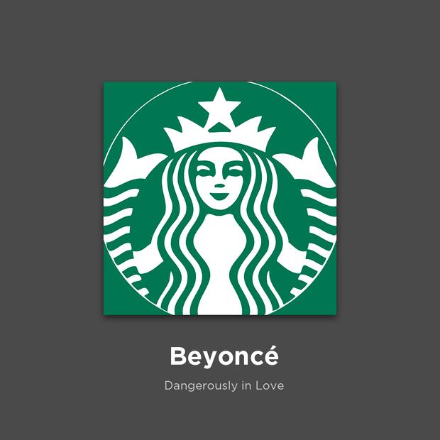 Фото №5 - 27 альбомов поп- и рок-звезд в виде известных логотипов