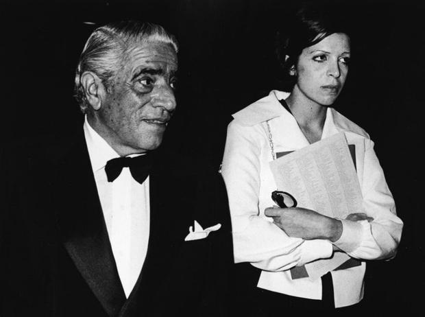 Кристина со своим отцом Аристотелем Онассисом, 1970 год