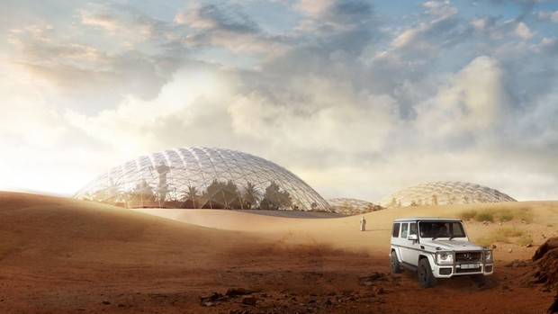 Фото №3 - В Арабских Эмиратах собираются построить космический город для тренировки колонизации Марса (фото)