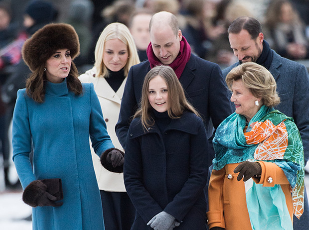 Фото №16 - Кейт Миддлтон и принц Уильям в Норвегии: день первый