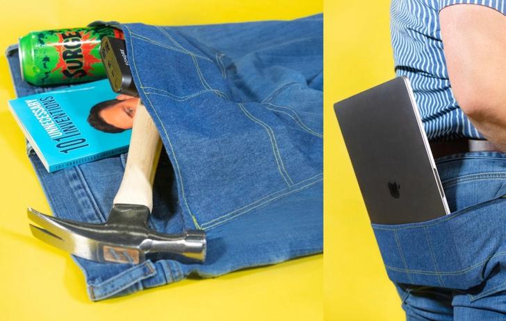 Фото №1 - Парень придумал карман для брюк, в который поместится все на свете (фото)