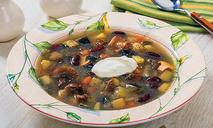 Овощной суп с опятами