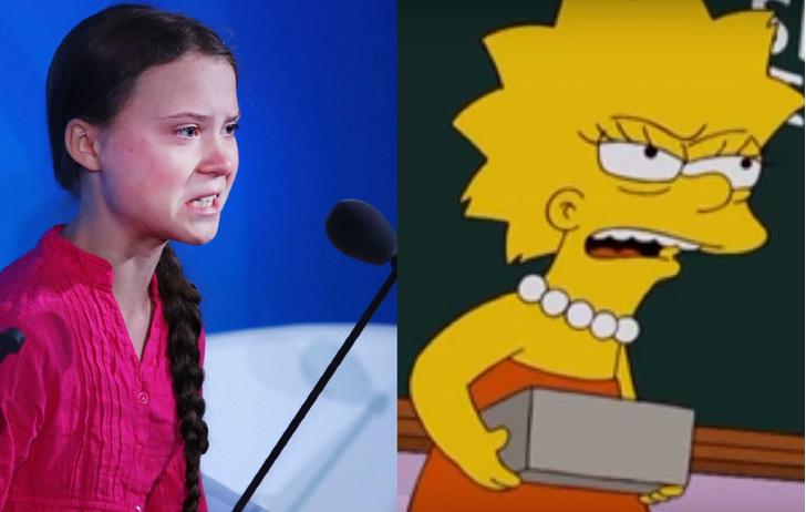 Фото №1 - «Симпсоны» предсказали речь Греты Тунберг еще в 2007 году (видео)