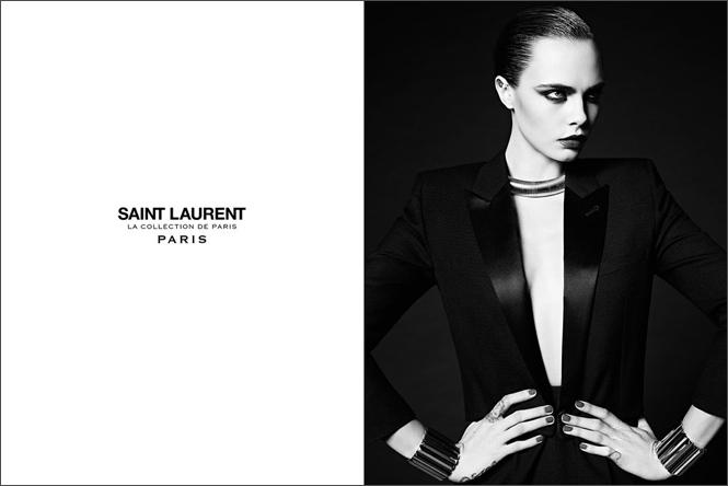 Фото №5 - Кара Делевинь в кампании Saint Laurent