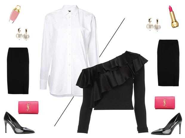 Фото №2 - 5 простых советов, как превратить строгий офисный костюм в наряд для корпоратива