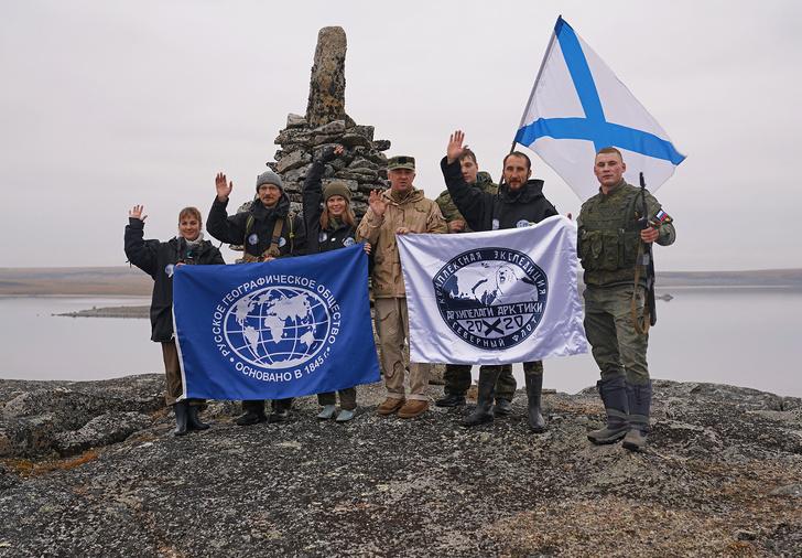 Фото №1 - Завершилась арктическая экспедиция РГО и Северного флота