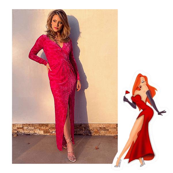 Фото №1 - Ну а мальчики потом… Лили Рейнхарт в роскошном красном платье выступает за феминизм