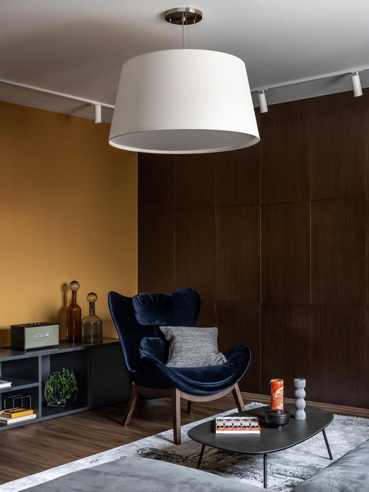 Фото №2 - Серый + горчица: уютная квартира 108 м² в Самаре