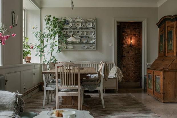 Фото №8 - Атмосферная квартира с изразцовой печкой в Стокгольме
