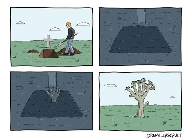 Фото №7 - 19 комиксов для ценителей черного юмора от французского художника