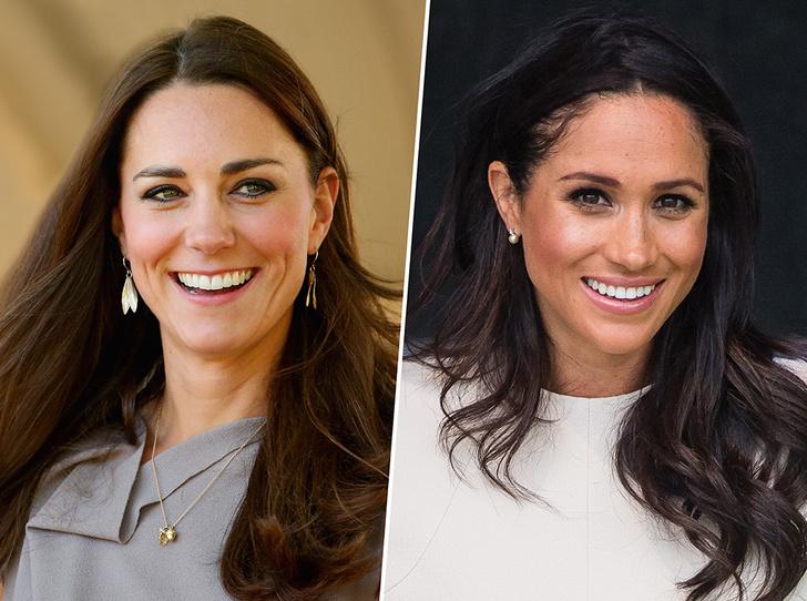 Фото №1 - Любопытная разница в фотографиях Меган Маркл и Кейт Миддлтон