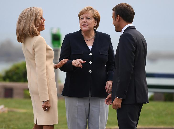 Фото №4 - Как чета Макрон встретила мировых лидеров на саммите G7