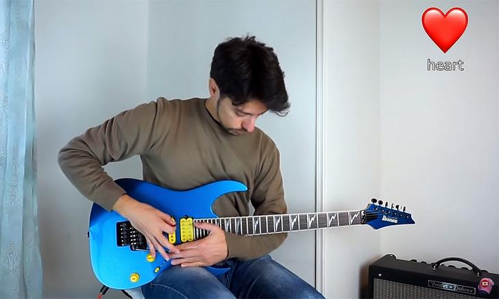 Фото №1 - Гитарист имитирует, как звучат популярные эмодзи (видео)