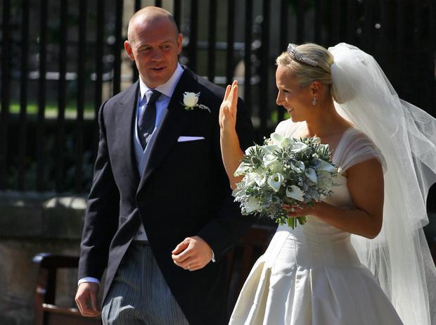 Фото №1 - Задолго до Меган: как Зара Тиндолл нарушила протокол на своей свадьбе