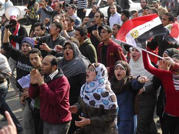 Демонстранты требовали отставки президента Хосни Мубарака