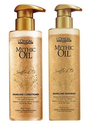 Средства по уходу за волосами с золотыми блестками Mythic Oil Souffle d'Or, L'Oréal Professionnel
