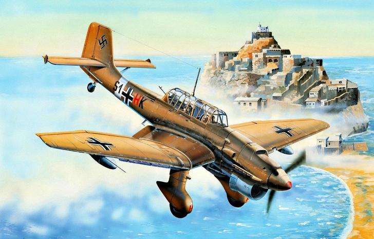 Фото №2 - Почему немецкие бомбардировщики издавали такой страшный звук