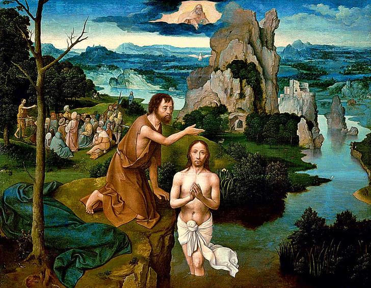 Shutterstock<strong>Полотно фламандского художника Иоахима Патинира &laquo;Крещение Христа&raquo;, начало XVI века</strong>