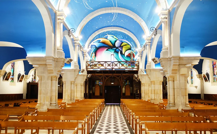 Фото №5 - Красочные граффити в церкви Святой Магдалины