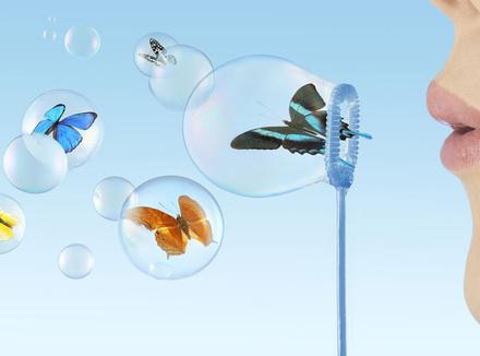 Бабочки в воздушных пузырях
