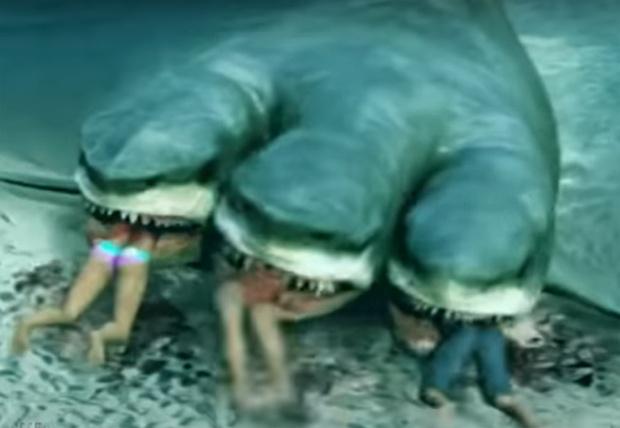 Фото №1 - Как бы выглядела пандемия коронавируса, если бы вирус был акулой (видео)