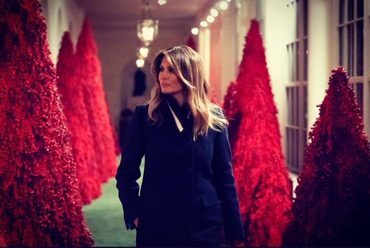 Фото №2 - Рождественское оформление Меланьи Трамп сравнили с «Сиянием» (видео)
