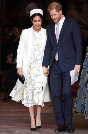Фото №4 - Лучшие образы герцогини Меган в 2019 году