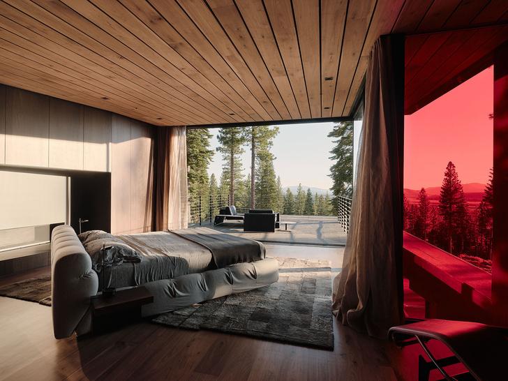 Фото №12 - Модернистский дом на горнолыжном курорте в Калифорнии