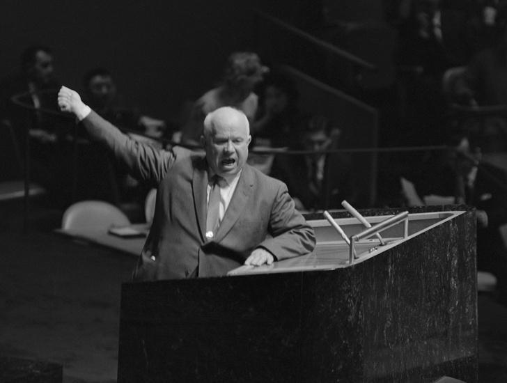 Фото №1 - 61 год громкой истории про то, как Хрущев стучал ботинком по столу в ООН