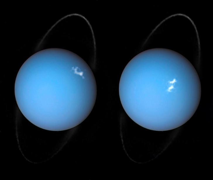 Фото №1 - В НАСА показали полярные сияния на Уране