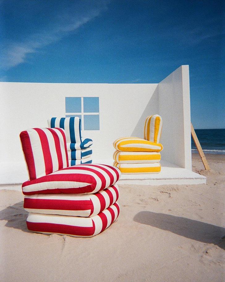 Фото №2 - Полосатые кресла в духе итальянской Ривьеры 1960-х