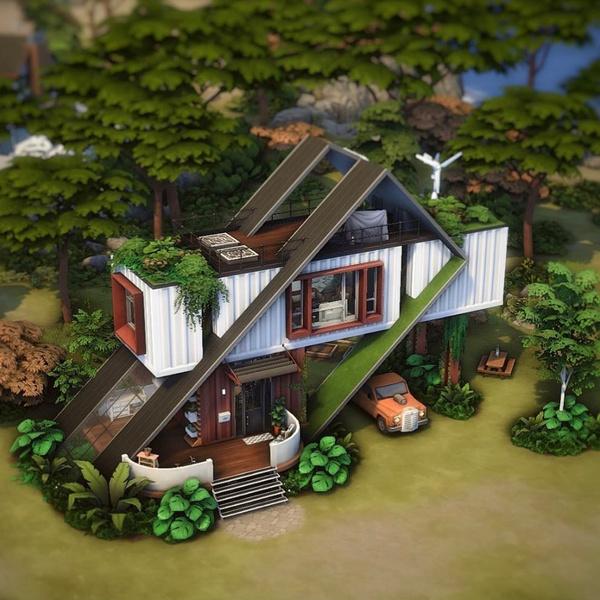 Фото №63 - 35 уютных домиков для «Симс 4», в которых ты сама захочешь поселиться