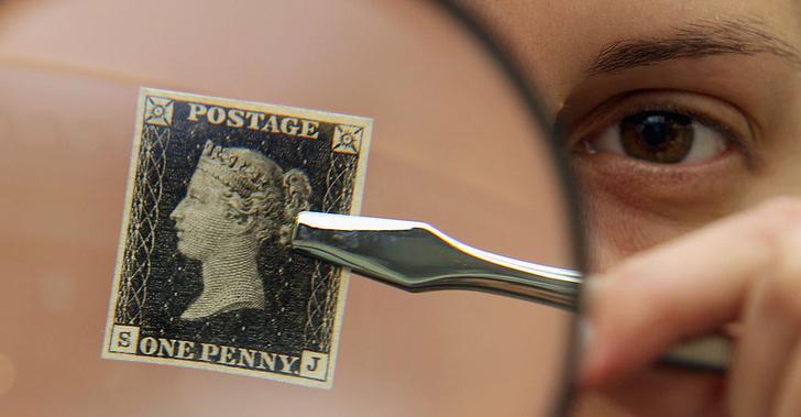 Фото №1 - «Святой Грааль», «Перевернутая Дженни» и еще 3 самые дорогие почтовые марки в мире