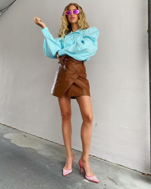 Фото №1 - Сочетайте карамельный и голубой оттенки, как стилист Эмили Синдлев