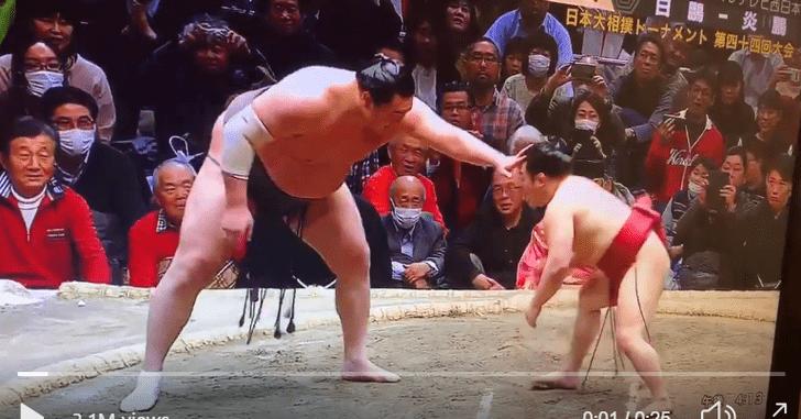Фото №1 - Схватка самого компактного чемпиона по сумо с гигантом (видео)