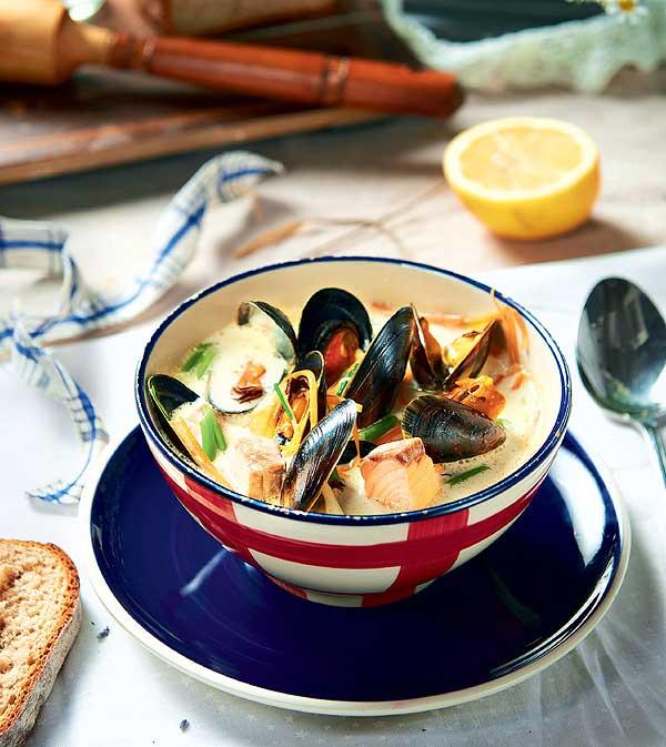 Фото №1 - Как рыба в молоке: рецепт норвежского супа