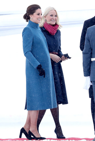 Фото №6 - Кейт Миддлтон и принц Уильям в Норвегии: день первый