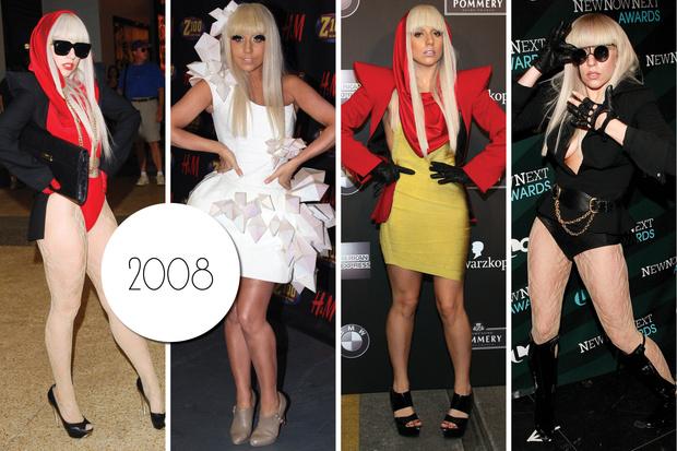 Эволюция стиля Леди Гаги: 2008 год
