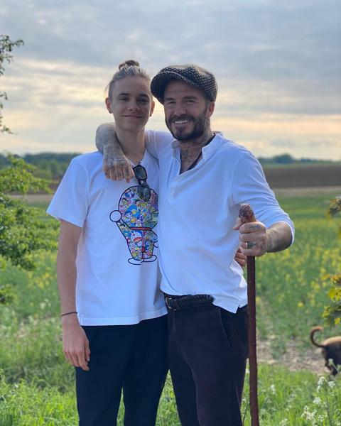 Дэвид Бекхэм с сыном фото