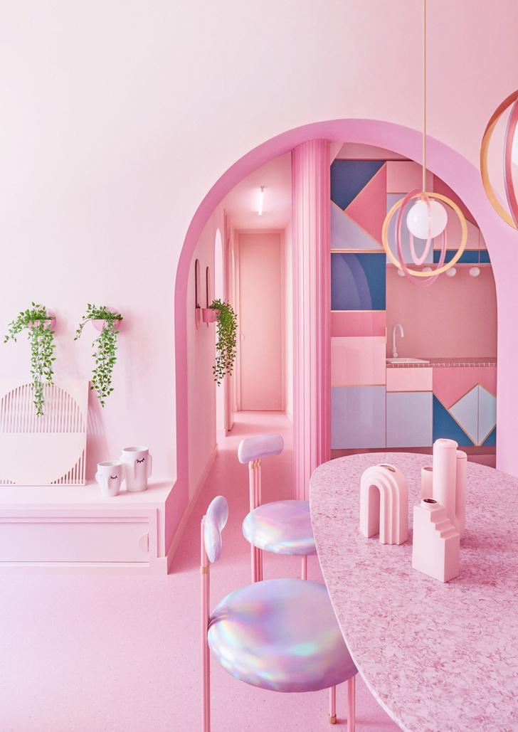 Фото №4 - Розовая квартира в центре Мадрида