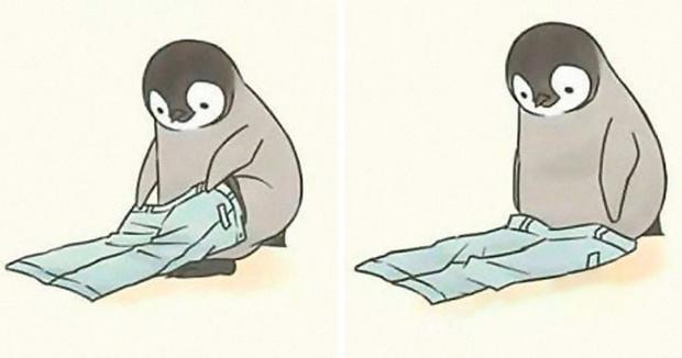 Фото №1 - Серия умилительных комиксов про пингвина, который ничего не может сделать (галерея)
