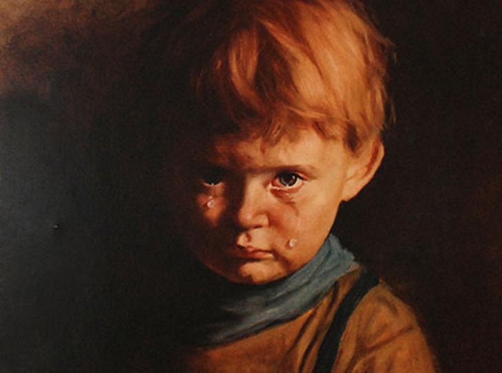 Фото №1 - Месть «Плачущего мальчика»: кого преследовала картина-поджигательница