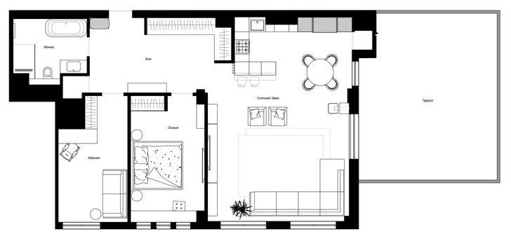Фото №14 - Уютная квартира в стиле лофт в Калининграде