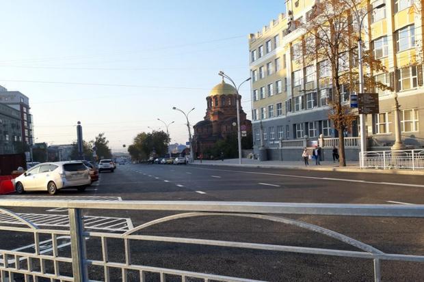 Фото №2 - В Новосибирске на год раньше закончат ремонтировать Красный проспект