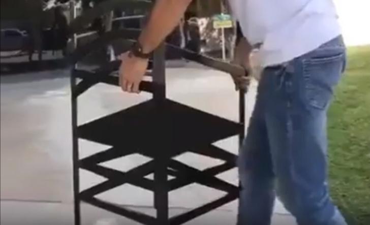 Фото №1 - Оптическая иллюзия: стул, к которому нужен правильный подход (видео)