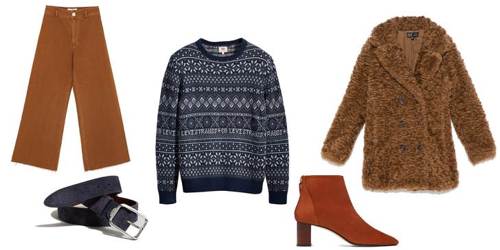 Фото №3 - Фэшн-идея: три крутых лука с рождественскими свитерами