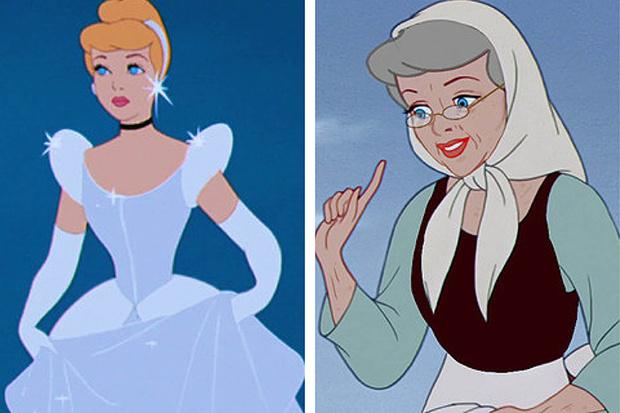 Фото №4 - Как принцессы Disney выглядели бы в старости?