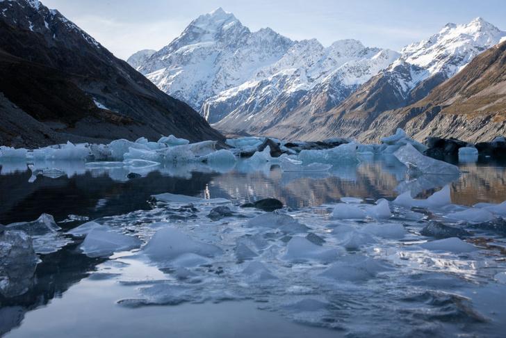 Фото №1 - Скорость таяния ледников в Новозеландских Альпах удвоилась