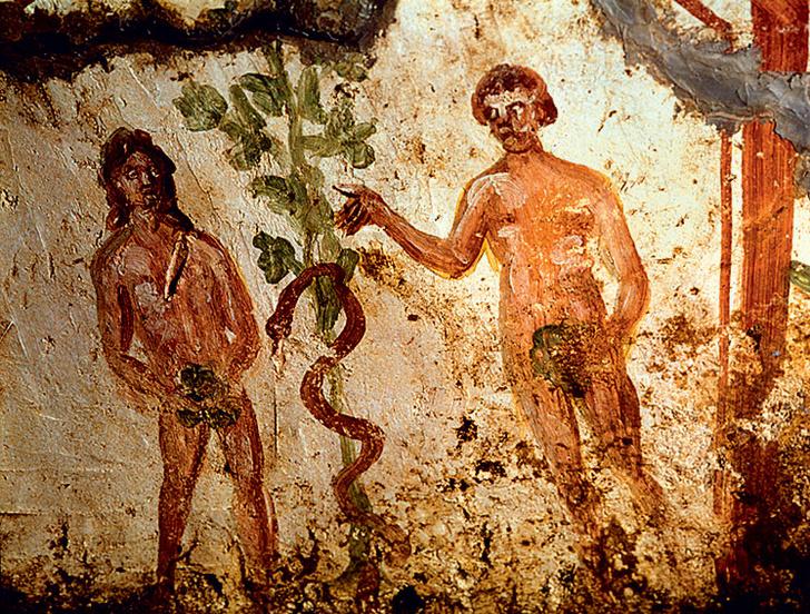 Фото №2 - Галерея: как изображали Адама и Еву последние  2000 лет