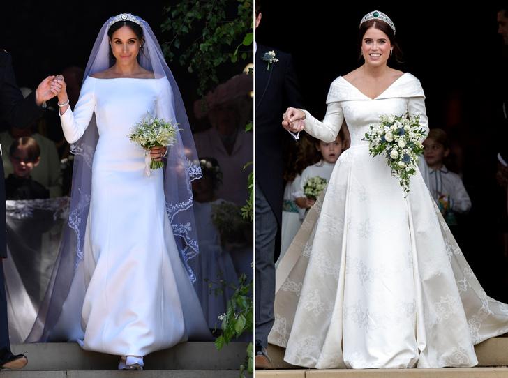 Фото №1 - Почему свадебное платье принцессы Евгении было удачнее, чем у Меган Маркл